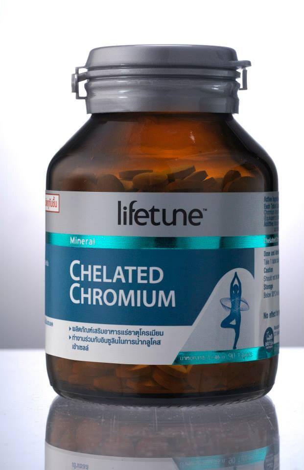 Lifetune Chelated Chromium (คีเลต โครเมียม) 90 เม็ด