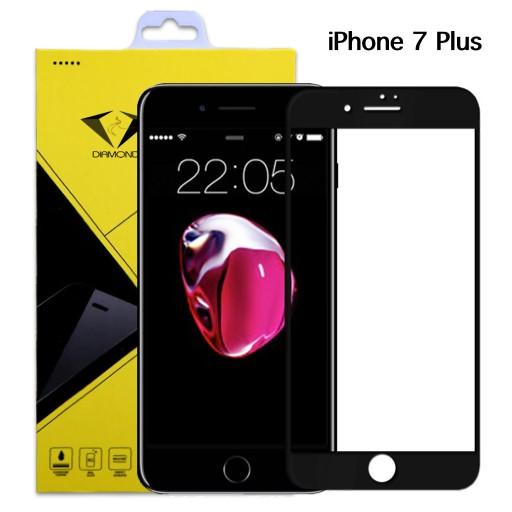 Diamond ฟิล์มกระจก iPhone 7 Plus ไอโฟน 7 พลัส แบบเต็มจอ สีดำ