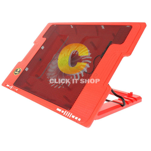 Cooler Pad NUBWO NF39 Clyde (1 Fan) Red