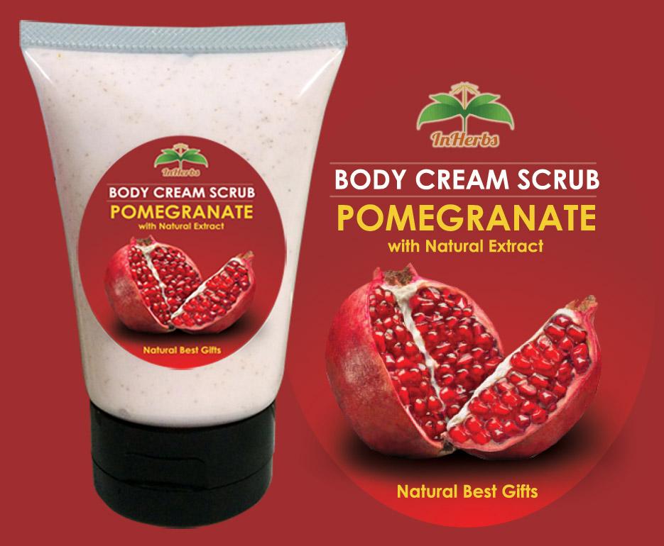 """""""POMEGRANATE"""" Body Cream Scrub / ครีมสครับขัดผิว ทับทิม"""