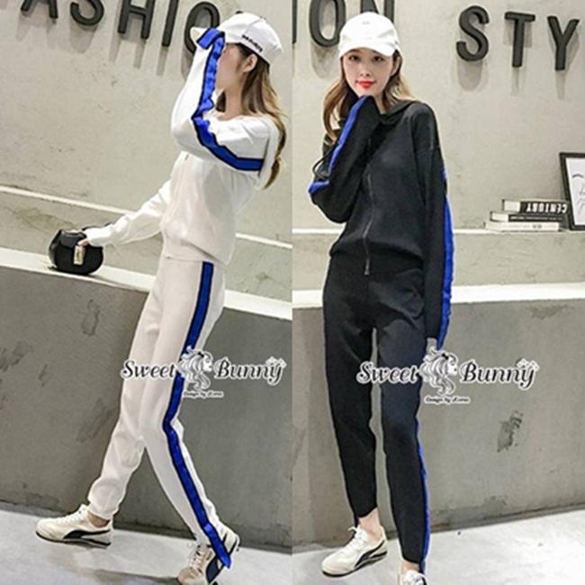 ชุดเซทแฟชั่น ชุดเซ็ทวอล์มเกาหลี เสื้อแจ๊คเก็ต+กางเกง