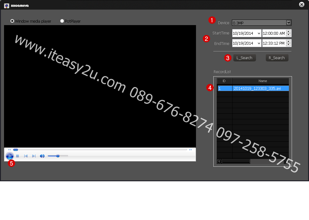 XXCamera PC Mornitor-PlayBack_www.ITeasy2u.com