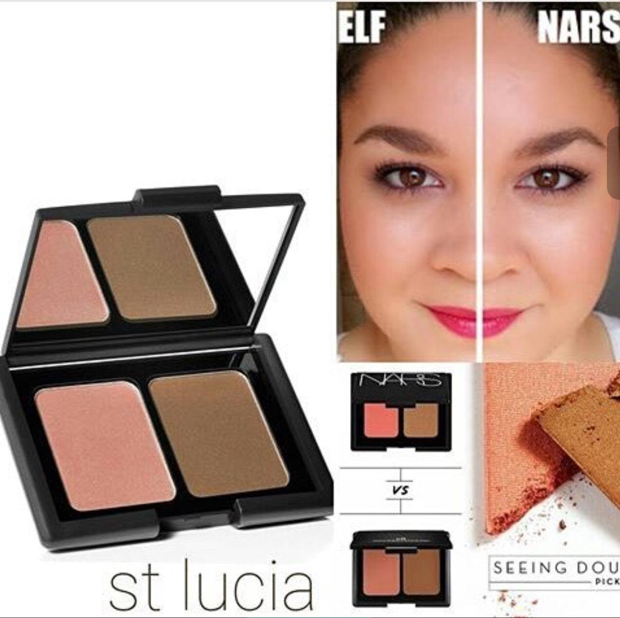 **พร้อมส่งค่ะ+ลด 50%** e.l.f. Studio Contouring Blush & Bronzing Powder สี ST. Lucia เบอร์ 601 ปัดแก้มและบรอนเซอร์ในตลับเดียว ขายดีที่สุด โมเมแนะนำค่ะ