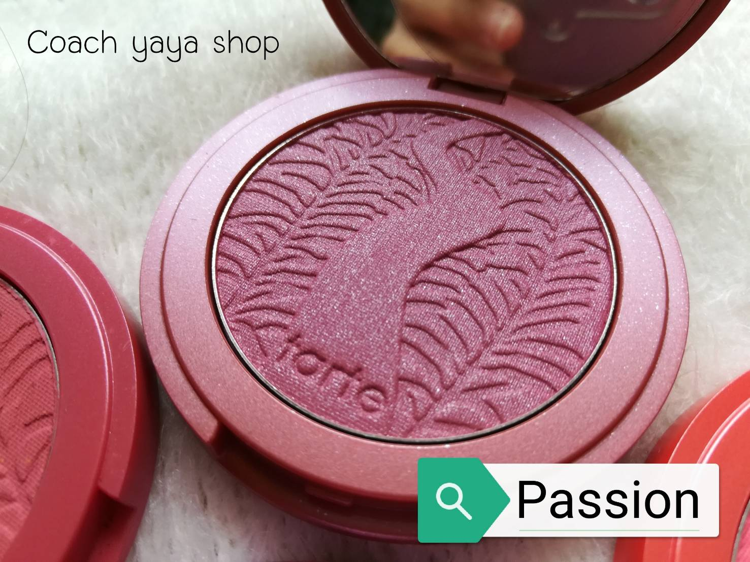 **พร้อมส่ง +ลด 50%** Tarte Amazonian Clay 12-hour blush Passion ( สี Passion )