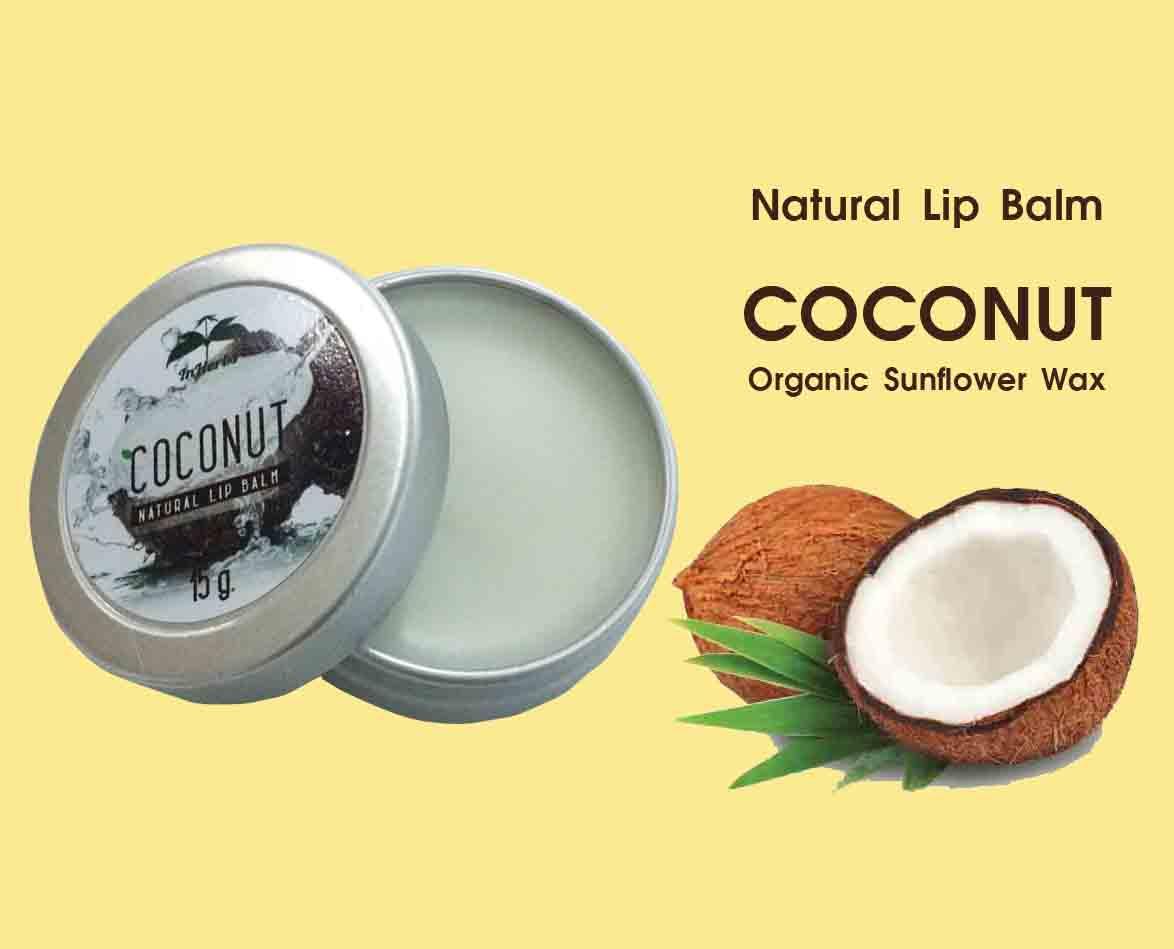 Natural Lip Balm Coconut - Organic Sunflower Wax
