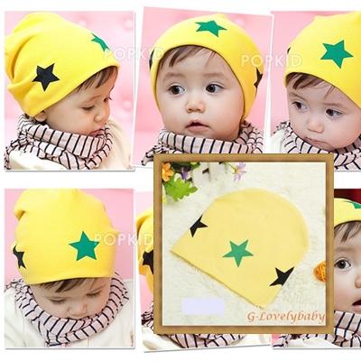 หมวกเด็ก หมวกเด็กอ่อน หมวกเด็กสไตล์เกาหลี ลายดาว