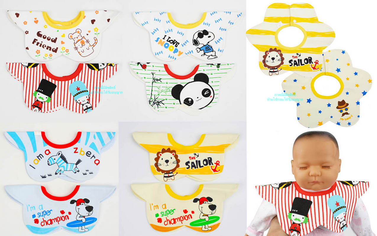 [แพค 2 ผืน] ผ้ากันเปื้อนคอปกญี่ปุ่น Beautiful Baby