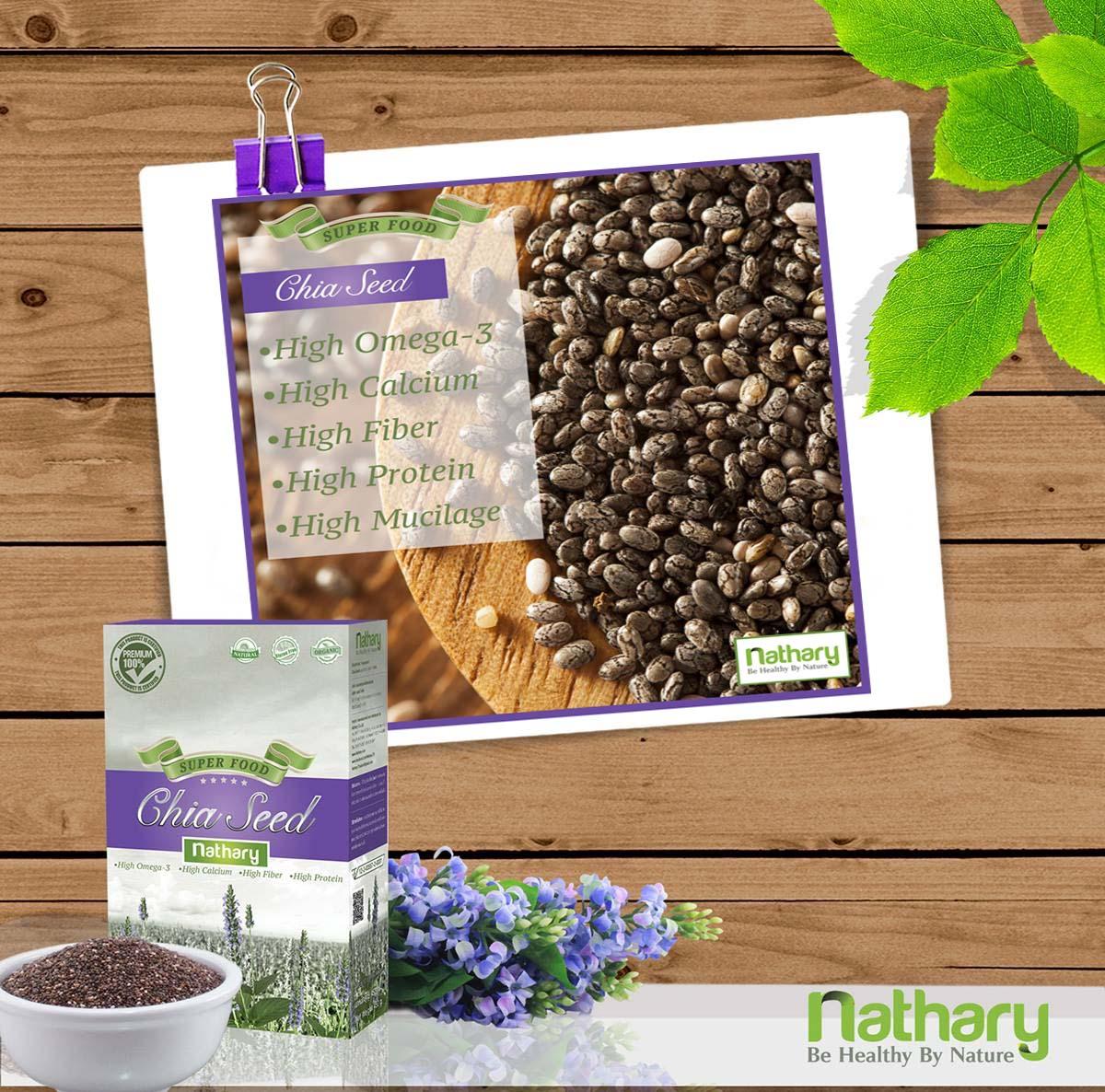 Chia Seed Nathary เมล็ดเจียหรือเมล็ดเซีย อาหารเสริมสุขภาพ ของแท้ ราคาถูก ปลีก/ส่ง โทร 089-778-7338-088-222-4622 เอจ
