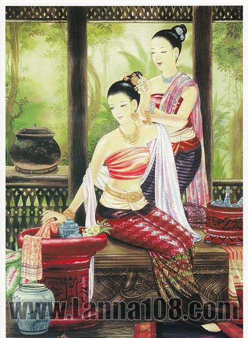 ภาพศิลปะล้านนา Lanna People รหัสสินค้า A _ 29