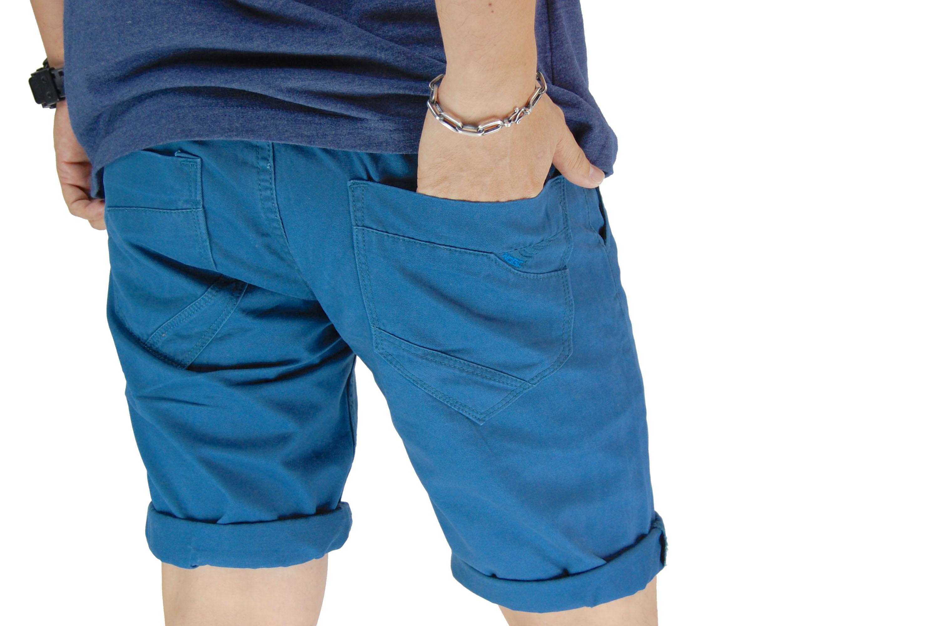 กางเกงขาสั้น สีฟ้าเข้ม NT28-3--2