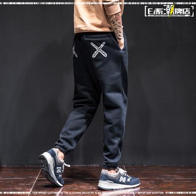 กางเกงขายาวญี่ปุ่น แนวฮาราจูกุ แต่งกากบาทด้านหลัง มี2สี