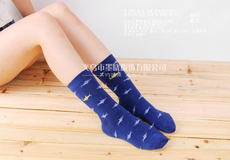 S383 **พร้อมส่ง**(ปลีก+ส่ง) ถุงเท้าข้อยาว แฟชั่นเกาหลี มี 12 คู่ต่อแพ็ค พร้อมกล่อง เนื้อดี งานนำเข้า(Made in China)