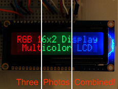 RGB backlight negative LCD 16x2 + extras (By Adafruit)