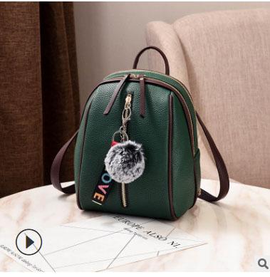 พร้อมส่ง กระเป๋าเป้ใบเล็ก ทรงหลังเต่า แฟชั่นสไตล์เกาหลี Yi-1001 สีเขียว 1 ใบ *แถมจี้ป๋อม