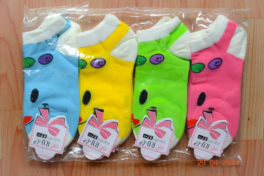 S206**พร้อมส่ง** (ปลีก+ส่ง) ถุงเท้าแฟชั่นเกาหลี ข้อสั้น เนื้อดี งานนำเข้า(Made in China)
