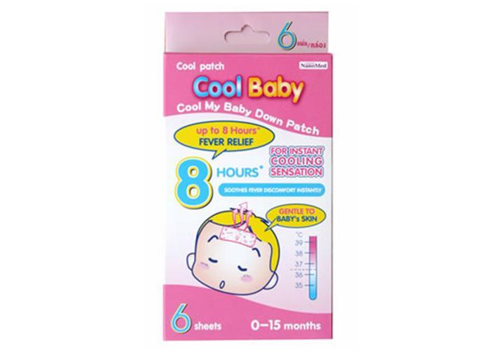 Cool Baby ขนาดบรรจุ : 1 กล่องมี 3 ซอง ซองละ 2 แผ่น