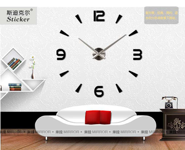 นาฬิกาDIY ขนาดจัมโบ้90cm สีดำ big10A