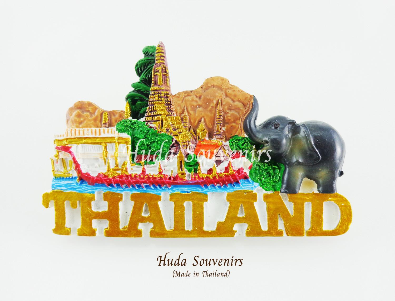 ของที่ระลึกไทย แม่เหล็กติดตู้เย็น ลวดลายเอกลักษณ์ไทย