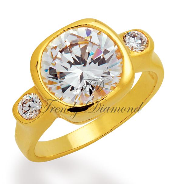 แหวนเพชรCZ เพชรสวิส แหวน Sonata สีทอง