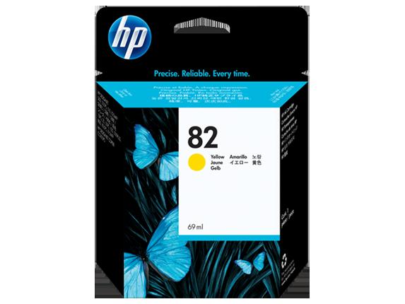 HP 82 69-ml ตลับหมึกอิงค์เจ็ท สีเหลือง Yellow DesignJet Original Ink Cartridge (C4913A)