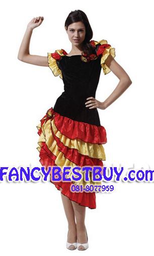 ชุดแฟนซีผู้ใหญ่ ชุดเต้นรำแบบลาติน Tap Dance Girl ขนาดฟรีไซด์
