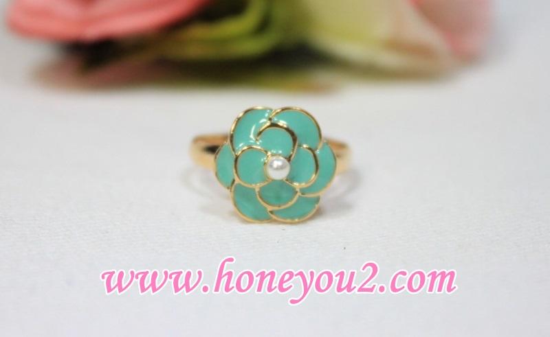 แหวน ดอกกุหลาบเขียว
