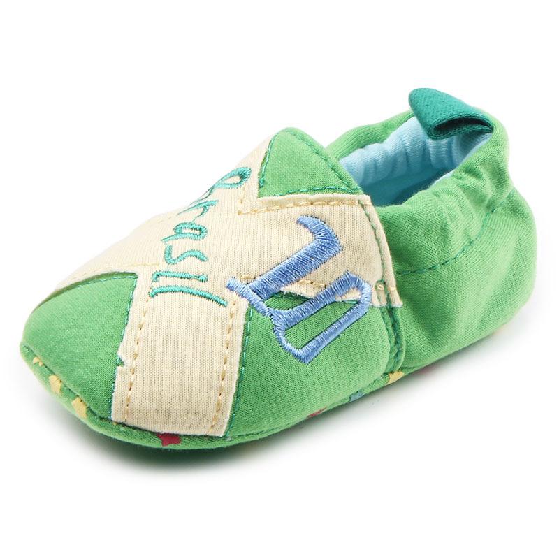 รองเท้าเด็กอ่อน 0-12เดือน รองเท้าเด็กชาย เด็กหญิง สีเขียว