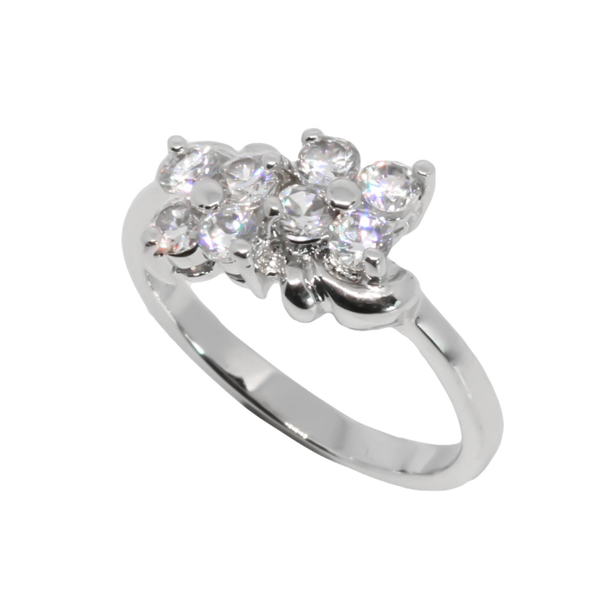 แหวนเพชรCZ หุ้มทองคำขาวแท้ ไซส์ 48