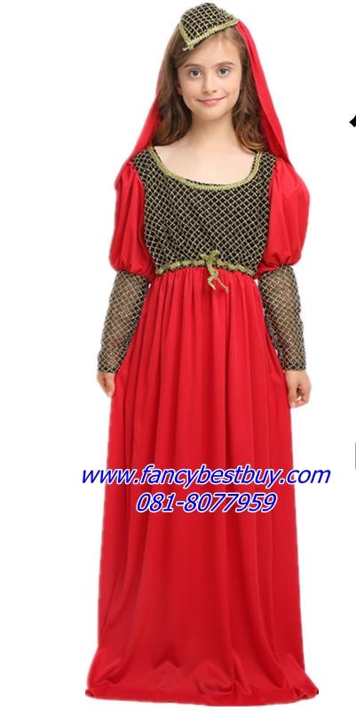 ชุดแฟนซีเด็ก ราชินีกรีก Athena Princess สำหรับใช้เป็นชุดประจำชาติอาณาจักรกรีก มี ขนาด 130