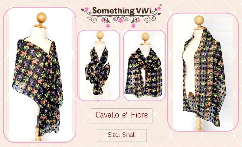ผ้าพันคอ/ผ้าคลุมไหล่/ผ้าคลุมให้นม รุ่น Cavallo e' Fiore (Size S) ลายน่ารักมากๆ เป็นม้าสีส้มและดอกไม้สีเหลือง ซึ่งพื้นหลังเป็นสีดำทำให้สีชัด ดูโดดเด่นยิ่งขึ้น เนื้อผ้าบางเบา ไม่หนัก ใส่กันลม กันแดด กันผิวเสียกันค่ะ ผ้าพันคอสีดำ ถวายอาลัย พร้อมกล่อง/ซอ