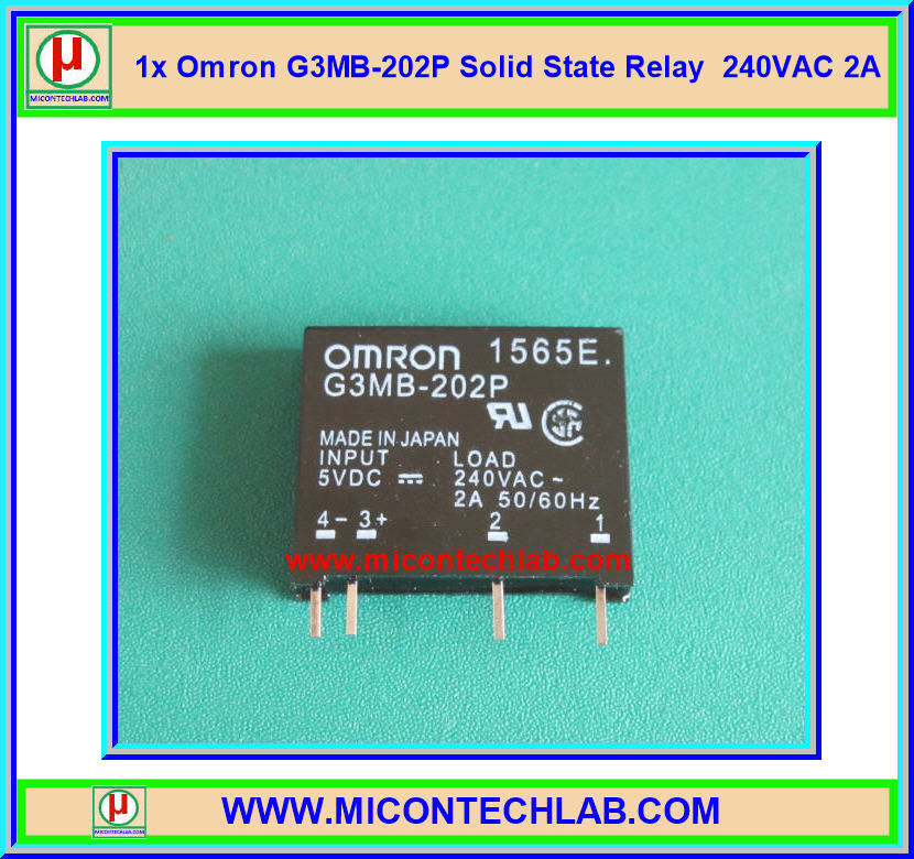 1x OMRON G3MB-202P 240VAC 2A Solid State Relay