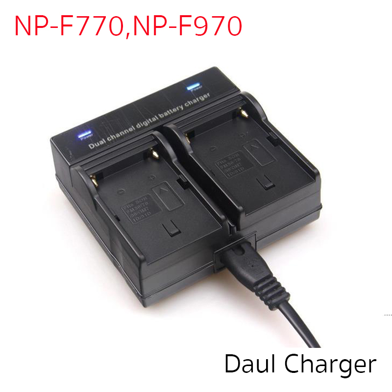 Battery Charger Dual For NP-F770, F970, QM71, QM91