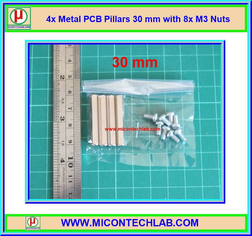 4x เสารองแบบเหลี่ยม 30 มม. 8x สกรู M3 (Pillars 30 mm)