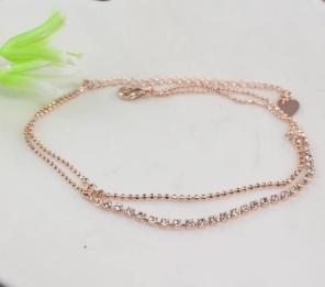 Leprechaun Korea jewelry ,double row of gold-plated diamond