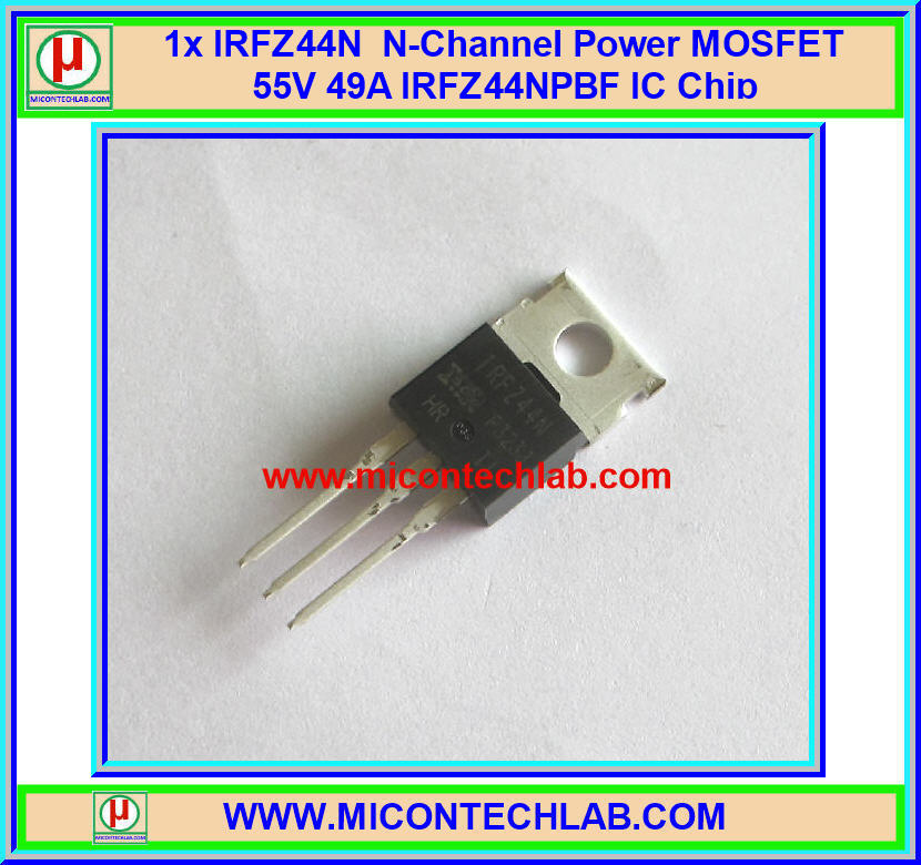 1x IRFZ44 Power MOSFET 55V 49A 94W N-Channel IRFZ44NPBF IC Chip