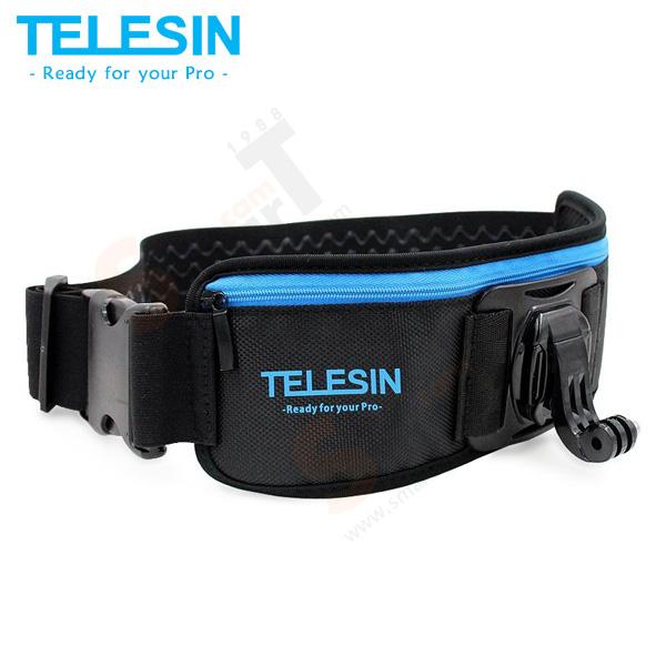 TELESIN Elastic Adjustable Waist Strap Belt with Pocket for GoPro