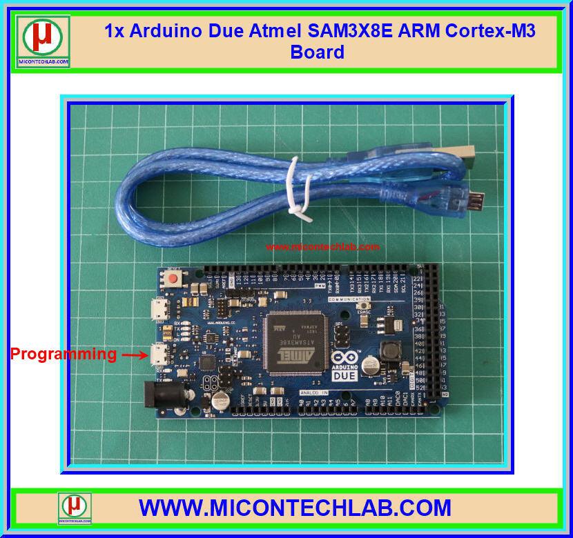 1x Arduino Due Atmel SAM3X8E ARM Cortex-M3 Board