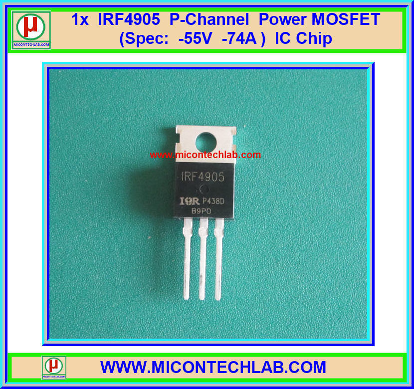 1x IRF4905 P-Channel Power MOSFET -55V -74A IC Chip