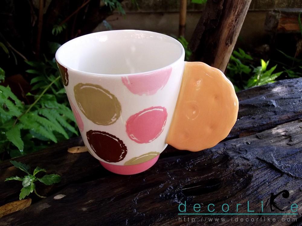 แก้วมักเซรามิคหูแก้วรูปแครกเกอร์