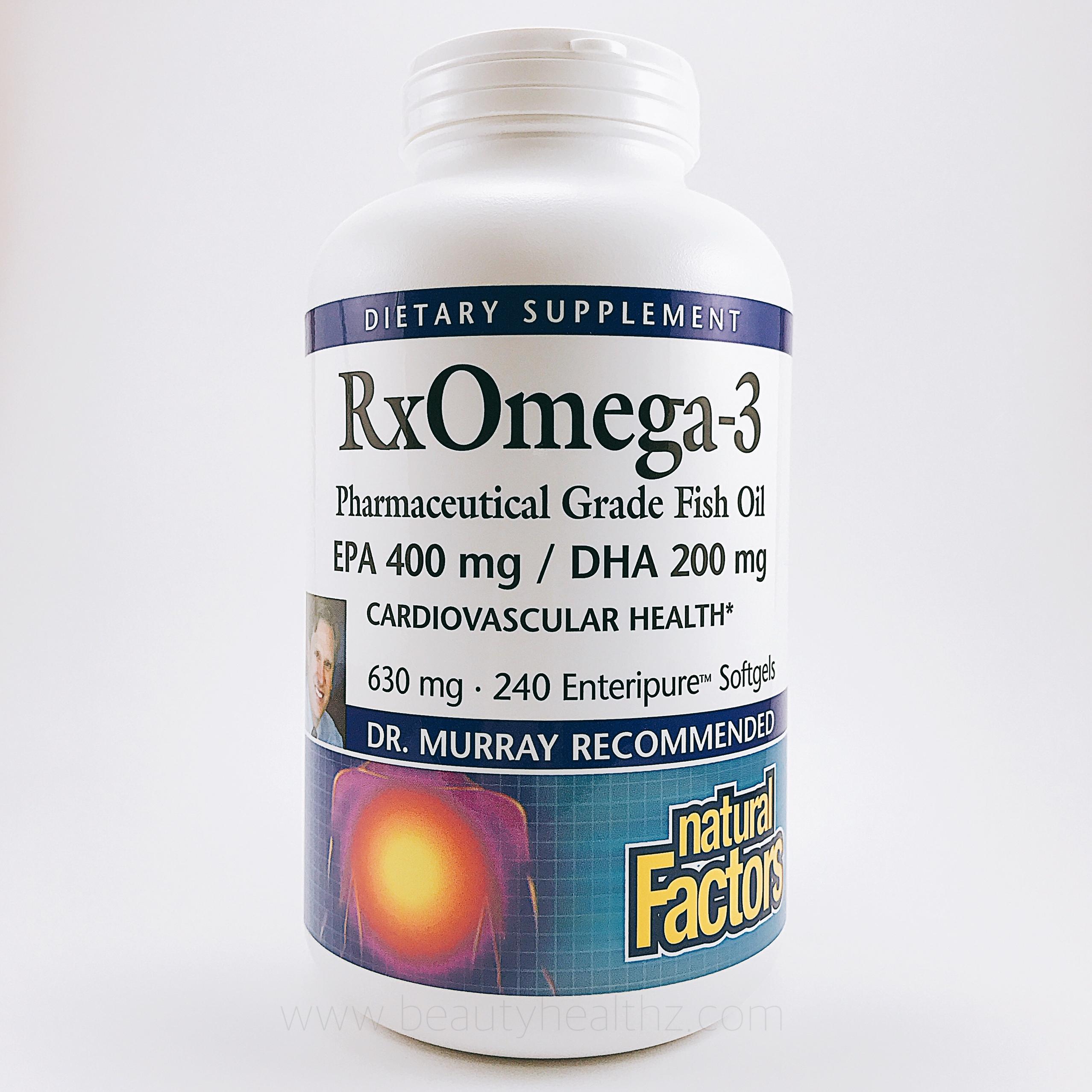 Natural Factors, Rx Omega-3 Factors, 630 mg, 240 Softgels