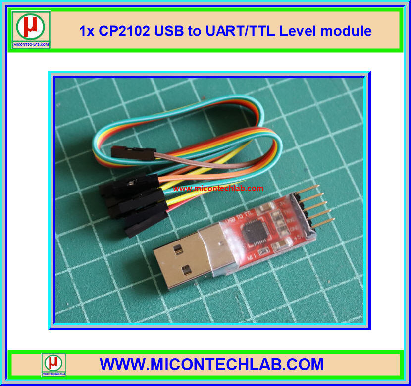 1x CP2102 USB to UART/TTL Level module