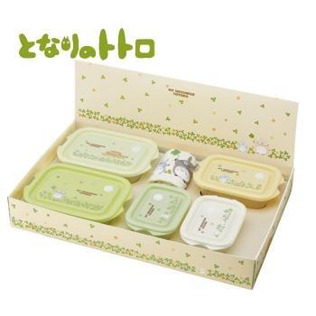 กล่องใส่อาหาร My Neighbor Totoro ชุด 5 กล่อง พร้อมผ้าเช็ดหน้า