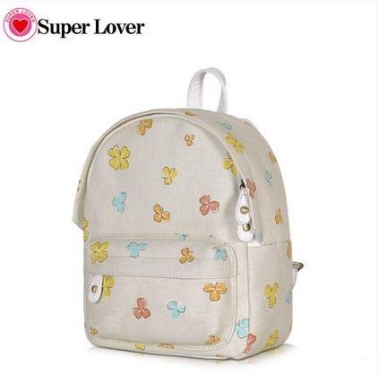 กระเป๋าเป้ยี่ห้อ Super Lover Sen Department of Small fresh canvas mini campus simple fashion Korea small bag (Preorder)