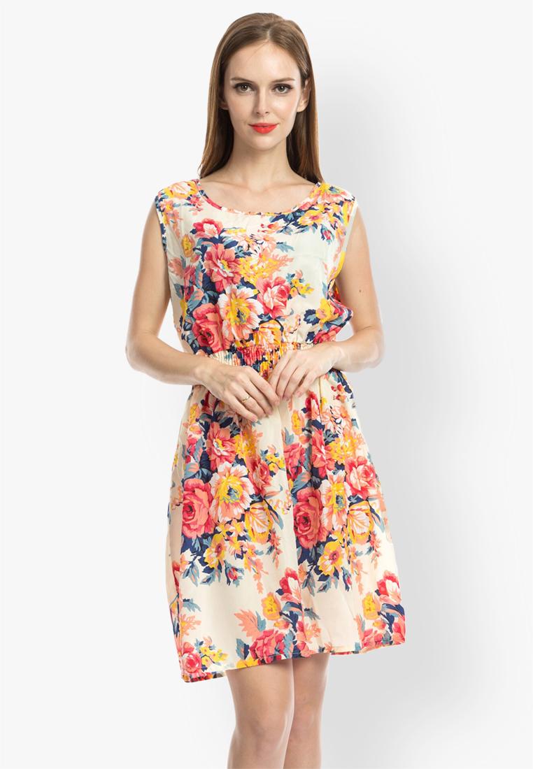 ชุดเดรส Floral A-Line