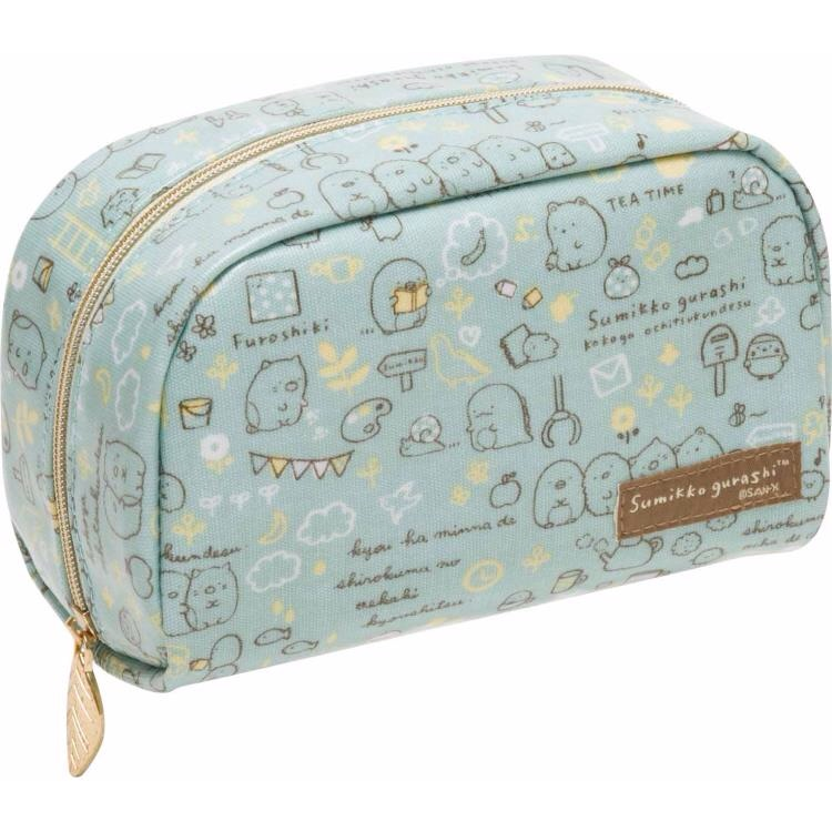 กระเป๋าใส่เครื่องสำอาง Sumikko Gurashi สีฟ้า