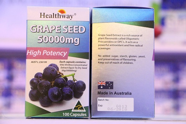healthway grape seed 50000 mg