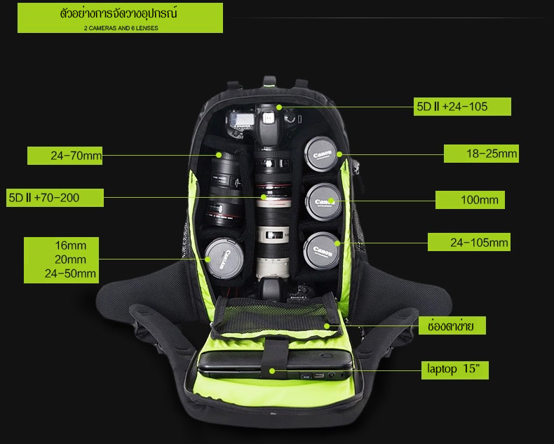 กระเป๋ากล้อง TUBU 6069 Backpack